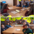 In accordance with the autumn plan at school No. 24, a children's writer was held in the library