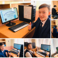 "The action carried out as part of the Global Computer Science Week ""Code Hour - 2019"" continued ..."