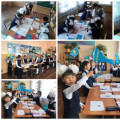 "An open lesson on the topic ""Exclamation sentences"" was held in grade 2 ..."
