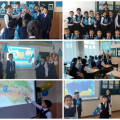 "Class hours on the theme ""My Homeland - Kazakhstan""..."