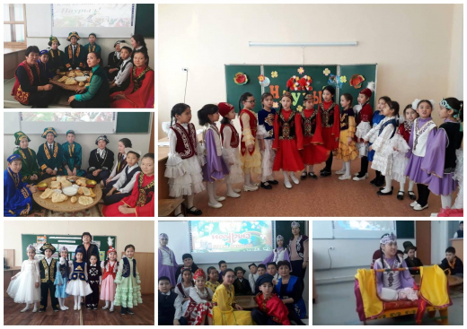"The class hours ""Nauryz - Spring Festival"" were held at the school ..."